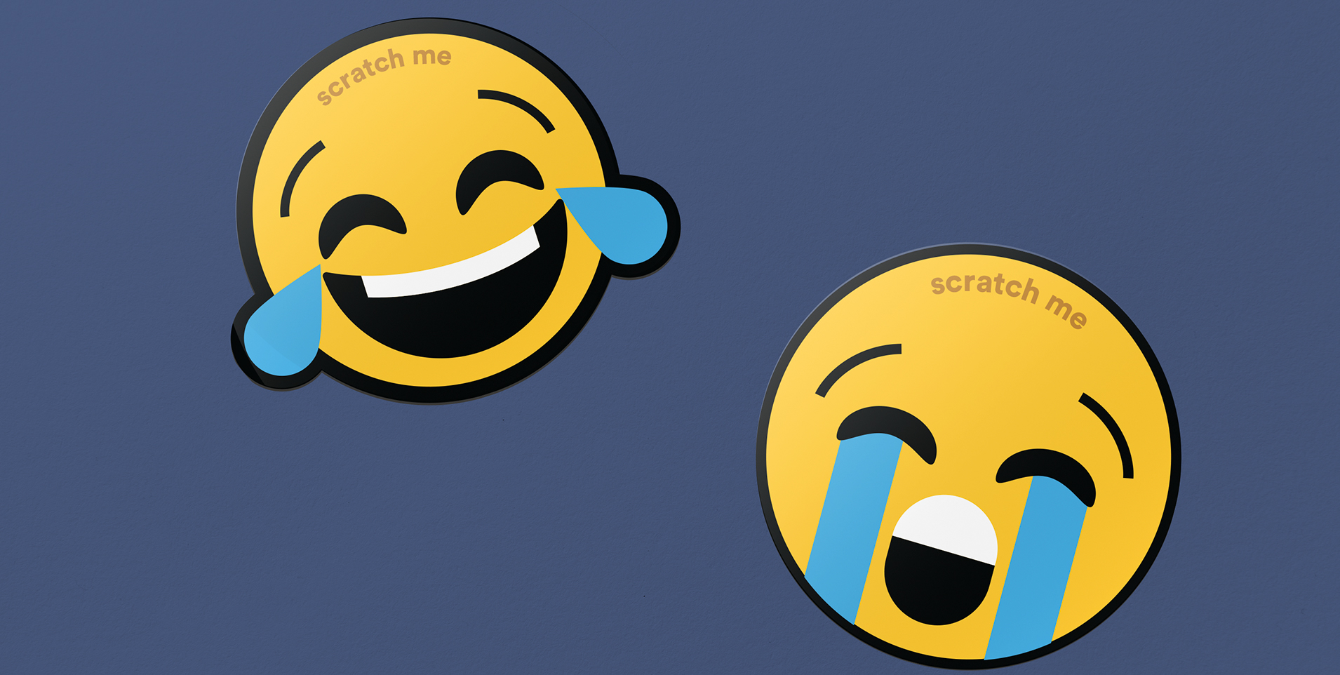 emoji stickers crying and laughing surprise videos